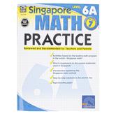 Carson-Dellosa, Singapore Math Practice 6A Workbook, Reproducible Paperback, 128 Pages, Grade 7