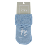 Stephan Baby, Little Blessing Inspirational Socks, Cotton, Blue, Size 3 to 12 Months