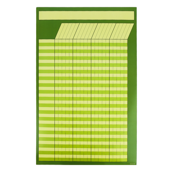 Renewing Minds, Customizable Incentive Chart, Green, 14 x 22 Inches, Green, 1 Piece