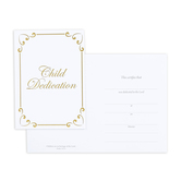 Warner Press, Folded Child Dedication Certificates and Envelopes, 5 x 7 inches, Set of 6