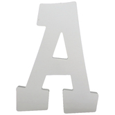 Letter A, White Wood, 9 inches