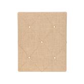 Tufted Natural Burlap Memo Board, Natural Burlap, 20 x 16 inches