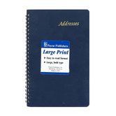 Payne, Address Book, Large Print, Black, 5 1/2 x 8 1/2 inches