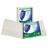 """1"""" Antimicrobial View Binder White"""