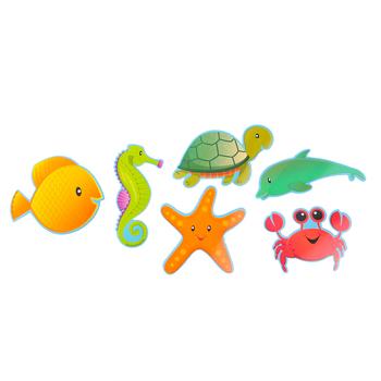 Renewing Minds, Mini Cutouts, Sea Creatures, 6 Designs, 3-1/2 Inch, Multi-Colored, 36 Pieces