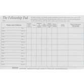 Broadman Church Supplies, Attendance Pads, 8 1/2 x 5 1/2 inches, 50 Pages Each, Set of 5