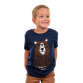 Kerusso, 1 John 4:16, Jesus Loves Me Beary Much, Kid's Short Sleeve T-Shirt, Navy, 3T- YL