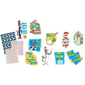 Eureka, Dr. Seuss Cat in the Hat Reading Goal Kit Bulletin Board Set, 324 Pieces
