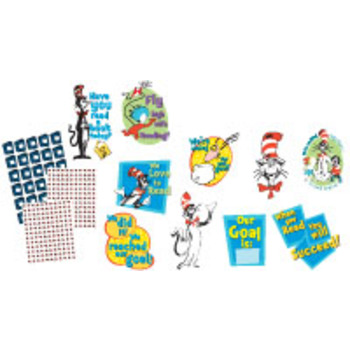 Eureka, Dr. Seuss Cat in the Hat Reading Goal Kit Bulletin Board Set, 324 Pieces