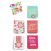 Christian Art Gifts, Marcos 10:27 Magnetic Page Markers, 1 Each of 6 Designs