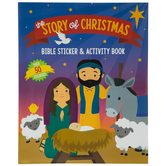 The Story of Christmas: Bible Sticker & Activity Book, 16 Pages