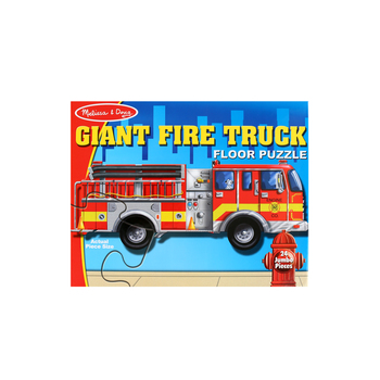 Melissa & Doug, Giant Firetruck Shaped Floor Puzzle, Ages 3 to 5 Years Old, 24 Pieces