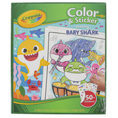 Crayola, Color & Sticker Baby Shark Book, 8 1/2 x 10 Inches, 32 Pages