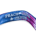 Kerusso, Paws and Pray, Colossians 3:15 Peace Love & Jesus Pet Collar, Polyester Webbing, Tie Dye, S/M