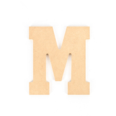 Woodpile Fun, MDF Natural Wood Color Letter - M, 5 inches, Brown