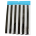 Bright Ideas, Striped Table Runner, Black/White, 18 x 88 Inches