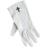 White Gloves with Cross (Large)