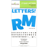 Renewing Minds, Blue Bulletin Board Letters, Uppercase, 2 Inches, Blue, 110 Pieces
