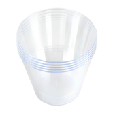 Brother Sister Design Studio, Clear Plastic Tumbler Cups, Square, 9 Ounces, 50 Count
