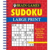 Brain Games Sudoku Large Print, by Publications International Ltd., Spiral Bound