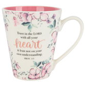 Christian Art Gifts, Proverbs 3:5 Trust In the Lord Coffee Mug, Ceramic, 13 ounces