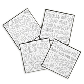 Playside Creations, Mini Paper Faith Puzzles, DIY Coloring, 4 Designs, 4 x 4 Inches, 24 Count