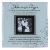 Dexsa, Marriage Prayer Photo Frame, Glass, White & Black, Holds 4 x 4 inch Photo, 12 x 12 inches
