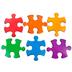 Renewing Minds, Mini Cutouts, Puzzle Pieces, 6 Designs, 3 x 2 Inch, Multi-Colored, 36 Pieces