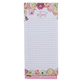 Christian Art Gifts, I Love You Mom Notepad, 8 1/2 x 3 3/4 x 1/2 inches