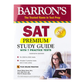 Barron's SAT Premium Study Guide with 7 Practice Tests, Book and Online, 30th Ed, Grades 10-12