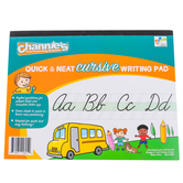 Channie's, Quick & Neat Cursive Writing Workbook, 11 x 8.5 inches, 80 Pages, Grades 2-4