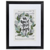 Oh How I Love Jesus Framed Wall Decor, Plastic and Glass, Black and White, 16 3/4 x 13 1/4 x 1 inches