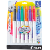 Pilot, FriXion Colors Erasable Marker Pens, Bold Point, Primary Colors, Pack of 6