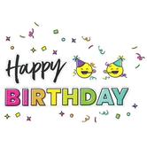 Carson Dellosa, Kind Vibes Birthday Mini Bulletin Board Set, Multi-Colored, 56 Pieces