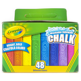 Crayola, Washable Sidewalk Chalk, 48 Count, Assorted Colors, Ages 4 and up