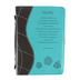 Christian Art, Hope Bible Cover, Duo-Tone, Turquoise and Brown, Large