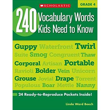240 Vocabulary Words Kids Need to Know: Grade 4