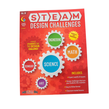 Creative Teaching Press, STEAM Design Challenges Resource Book Grade K, Paperback, 152 Pages