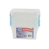 Dial, 10-Piece Flip Boxes, Clear, 3.38 x 5 x 2.75 Inches, 10 Pieces