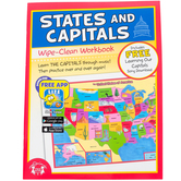 Twin Sisters, States and Capitals Wipe-Clean Activity Book, 12 Pages, Grades 2-5