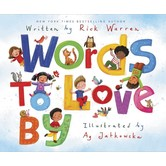 Words To Love By, by Rick Warren and Ag Jatkowska, Hardcover