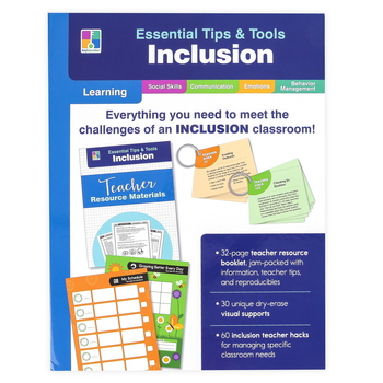 Carson-Dellosa, Essential Tips and Tools Inclusion Classroom Kit, Special Needs, 91 Pieces, Grades PreK-8