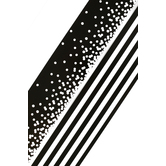 Renewing Minds, Wide Double-Sided Border Trim, 38 Feet, Black and White Confetti  and Stripes