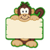Monkey Two-Sided Decoration