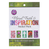 Floral Faith & Inspiration Vellum Sticker Pack, 2 3/4 x 5 Inches, 77 Count