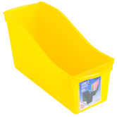 Storex, Large Book Bin, Yellow, 14.30 x 5.30 x 7 Inches, 1 Piece