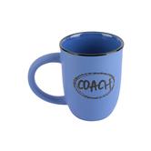 James Lawrence, Designer Coach Coffee Mug, Ceramic Stoneware, Blue, 14 ounces