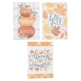 Renewing Faith, Thankful Grateful Notebook Set, 5 3/4 x 8 1/4 inches, 1 Each of 3 Designs