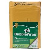 Duck Brand, Bubble Mailer, Brown, 6 x 9 Inches, Kraft, Pack of 5