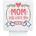 Dexsa, Mom God Loves You Night Light, Red/White, 3 x 4 1/2 Inches